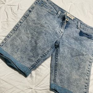 Women Bellfield  blue Jean shorts